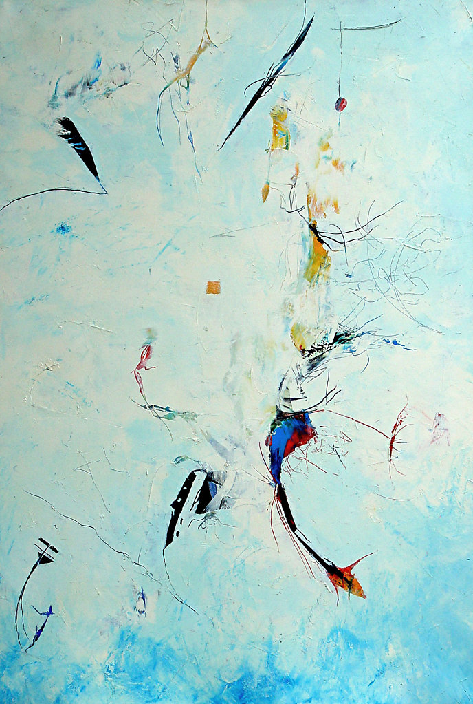 The Thought - 95x140 cm - Oil on Canvas - 2003